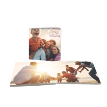 20pg 8x8inch (20x20cm) Pro Softcover Lay-Flat incl Delivery