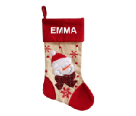 Red Snowman Christmas Stocking
